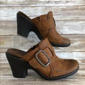 Born Concept 7M Brown Nubuck Leather Clog